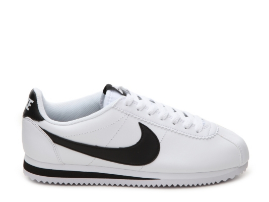 cortez nike white and black
