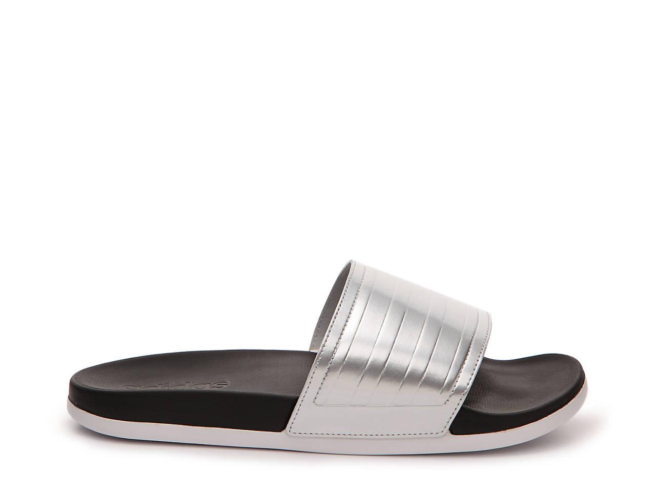 6c4fb855d157 adidas adiLette Supercloud Plus Metallic Slide Sandal Women s Shoes ...