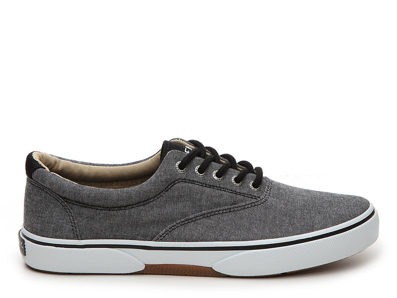 Sperry Shoes  Sperry Halyard Laceless Mens Casual Shoes Black Chambray