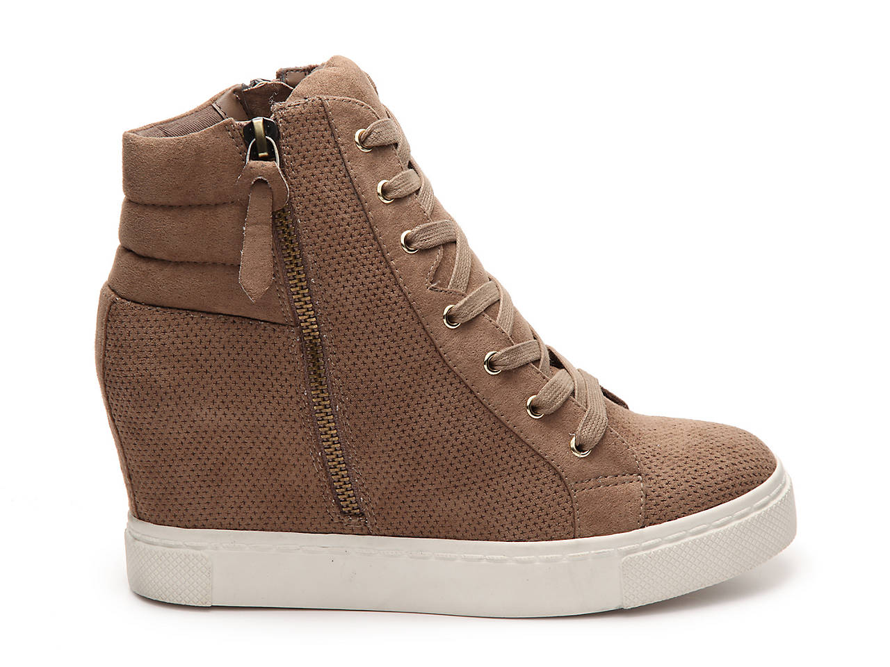 5e964e2e50b Steve Madden Lynn High-Top Wedge Sneaker Women s Shoes