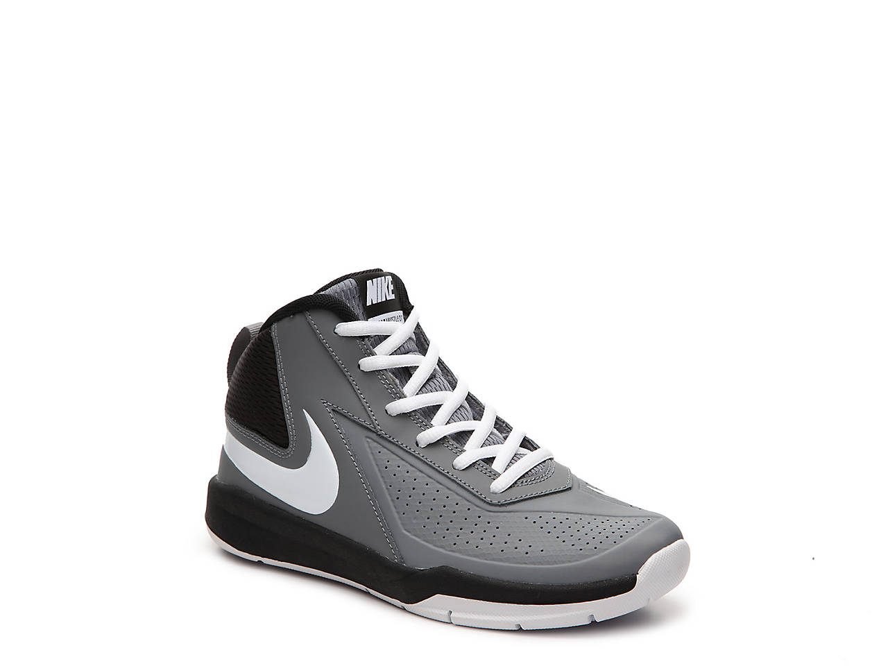 nike basketball shoes for girls black and white. team hustle d7 youth basketball shoe nike shoes for girls black and white s