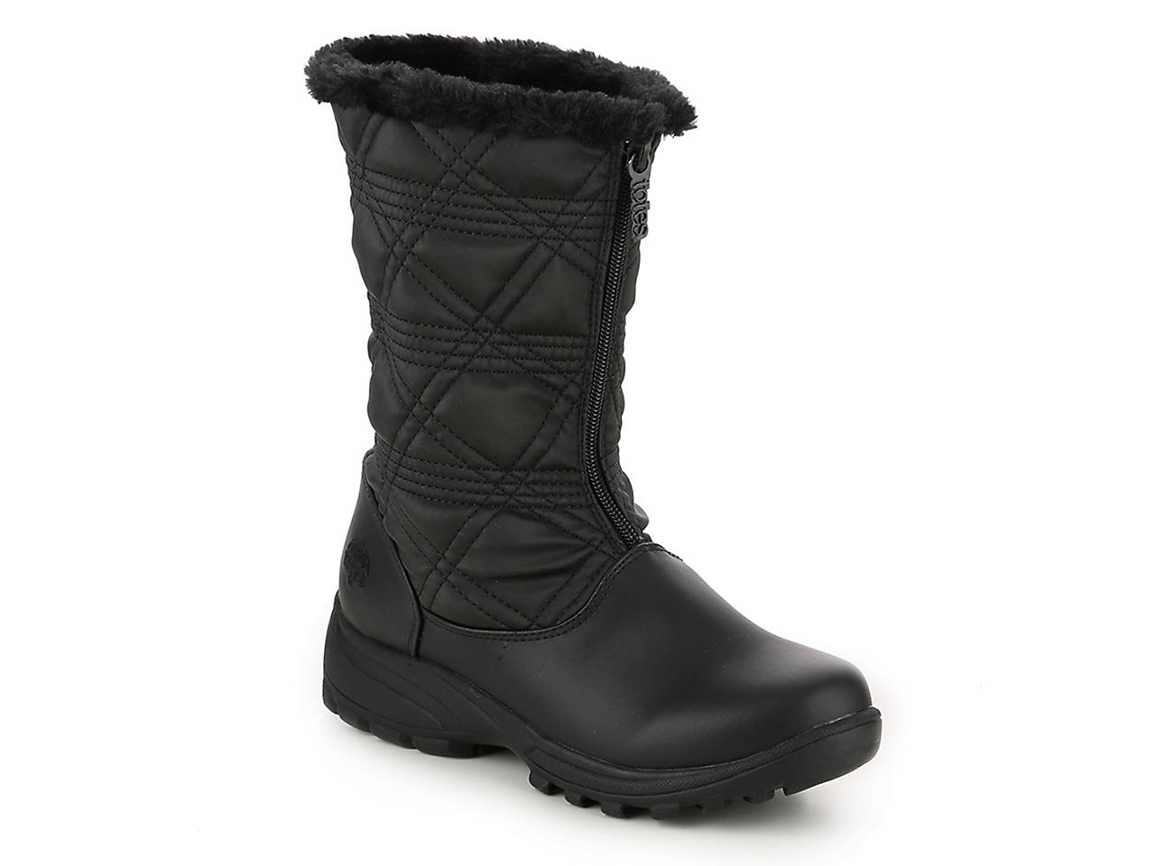 Women's Mid Calf Waterproof Winter Boots Pull On Round Toe Cold Weather Snow Boots