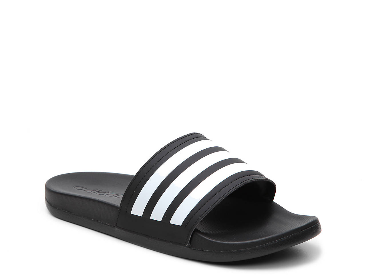 adidas Adilette Cloudfoam Ultra Stripes Slide Sandal - Women s ... 7f77e35e0