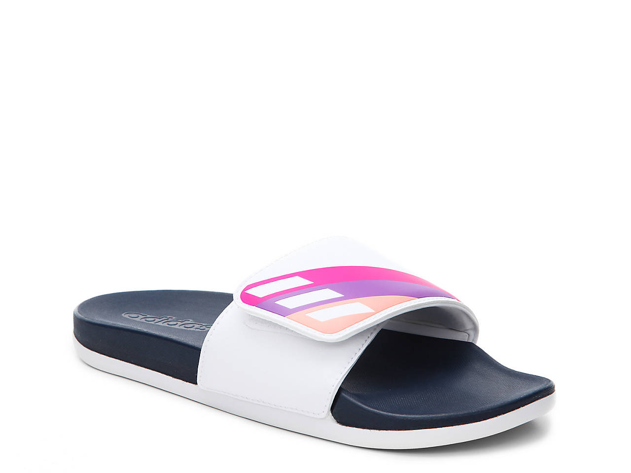 b2c0bbf078cf adidas Adilette Cloudfoam Ultra Adjustable Slide Sandal Women s ...