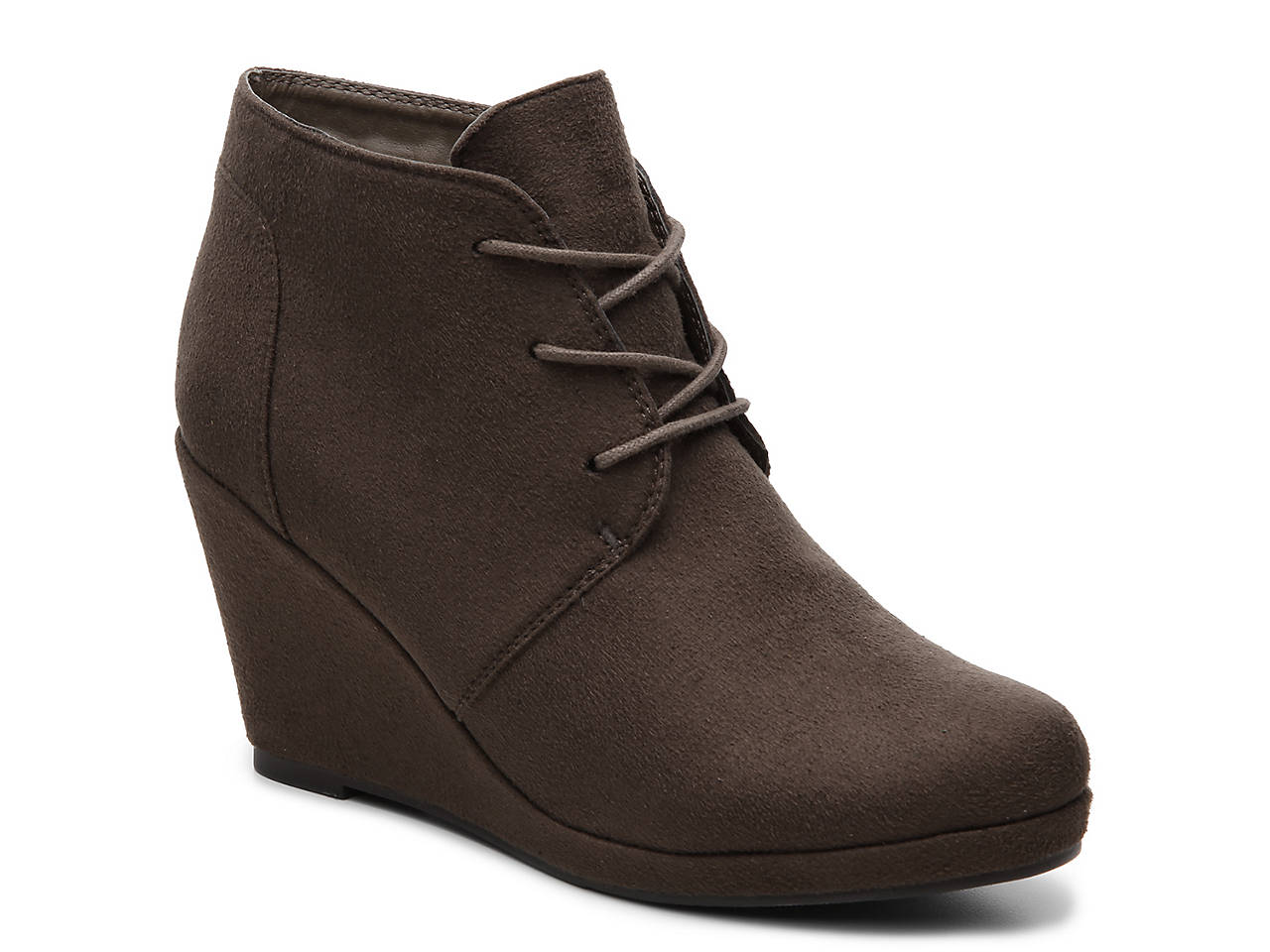 28500af29e77d Journee Collection Enter Wedge Bootie Women s Shoes
