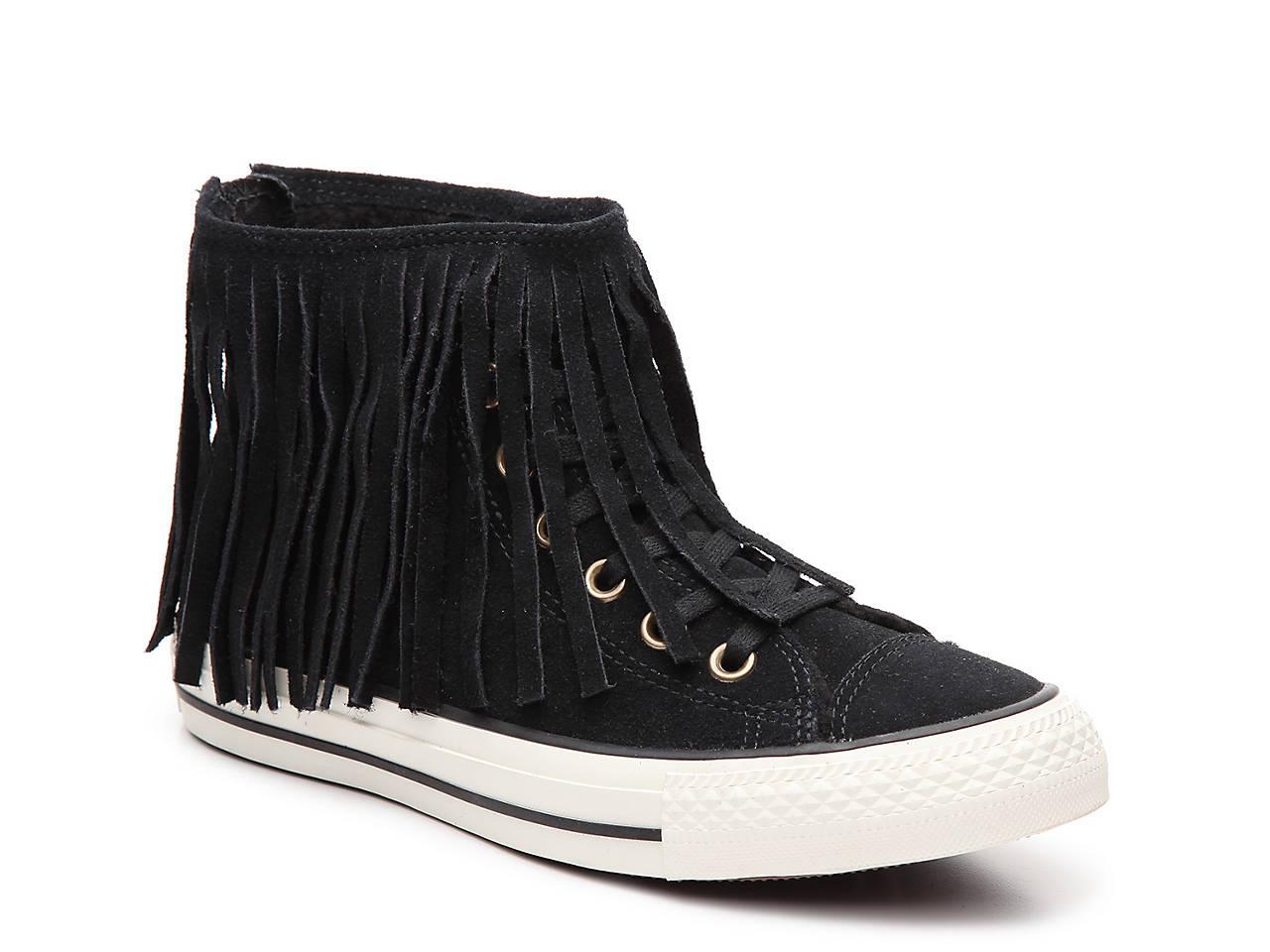 bbefa36fdd98aa Converse Chuck Taylor All Star Fringe High-Top Sneaker - Women s ...