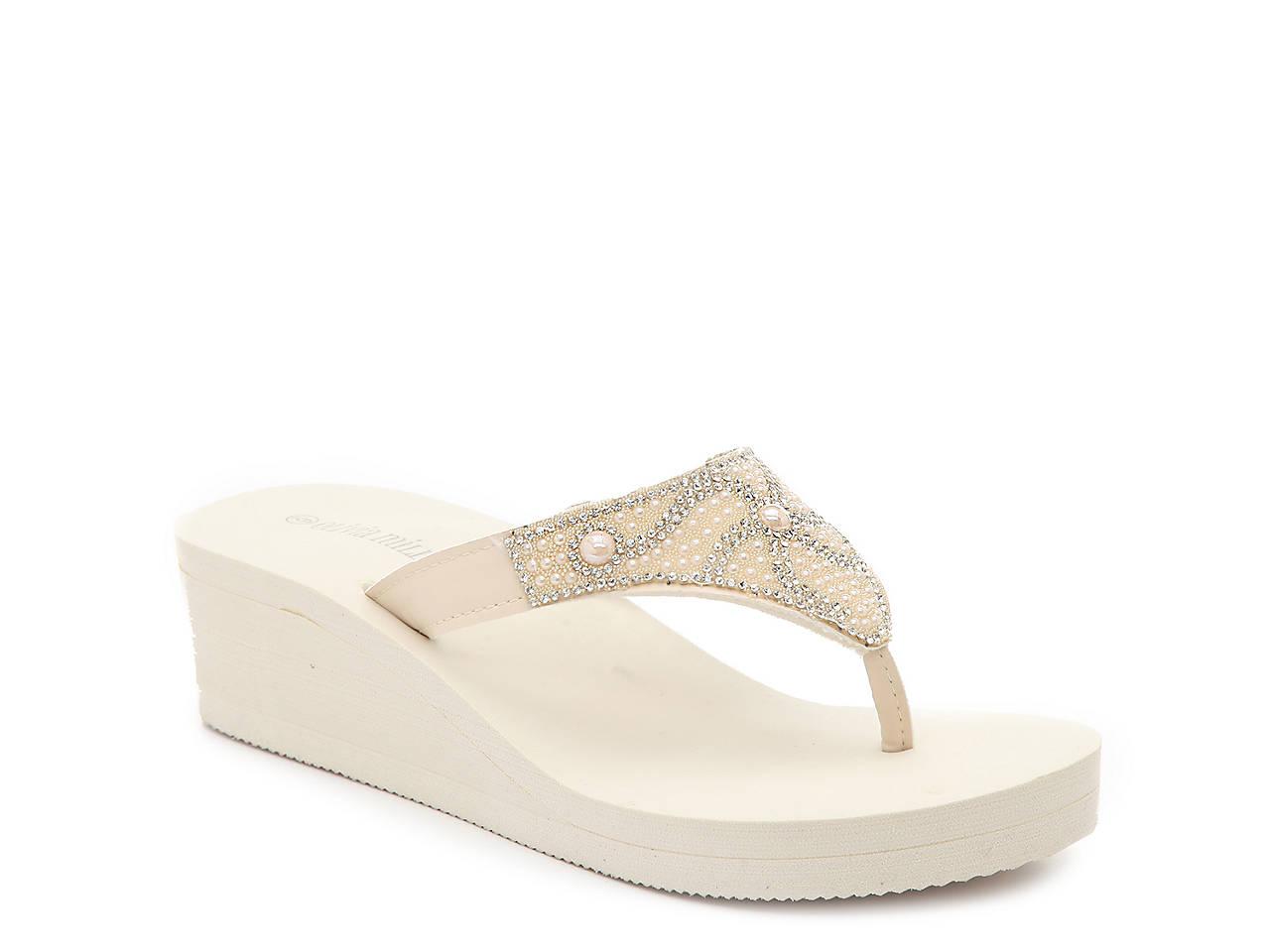 f23e4e30d4f Olivia Miller Eva Wedge Flip Flop Women s Shoes
