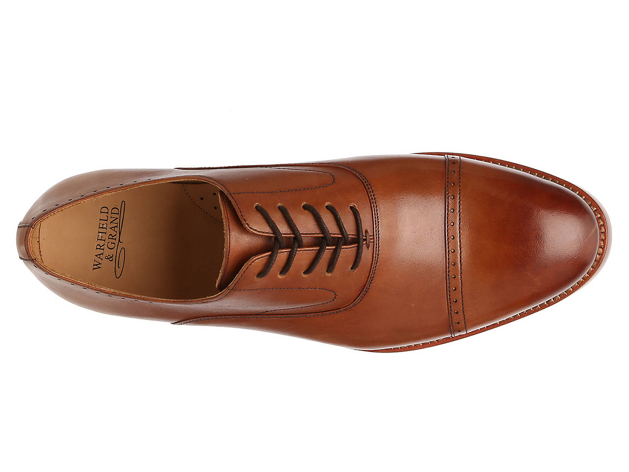 Warfield & Grand Ian Pebbled Leather Derby Prices Cheap Shop Latest Cheap Online Sale Online Shopping SRqE9a
