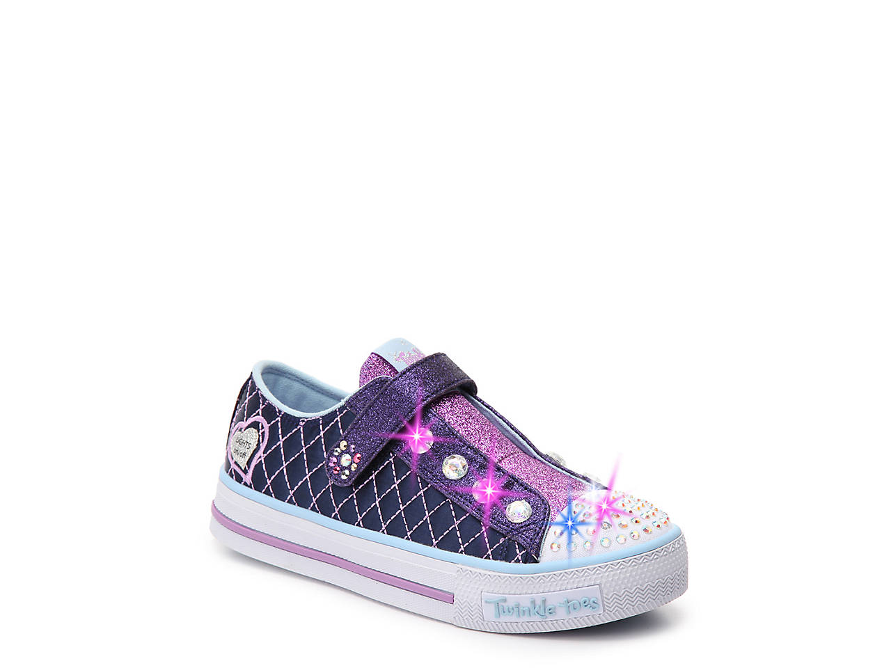 e01b61b11162 Skechers Twinkle Toes Sparkly Toddler   Youth Light-Up Sneaker Kids ...