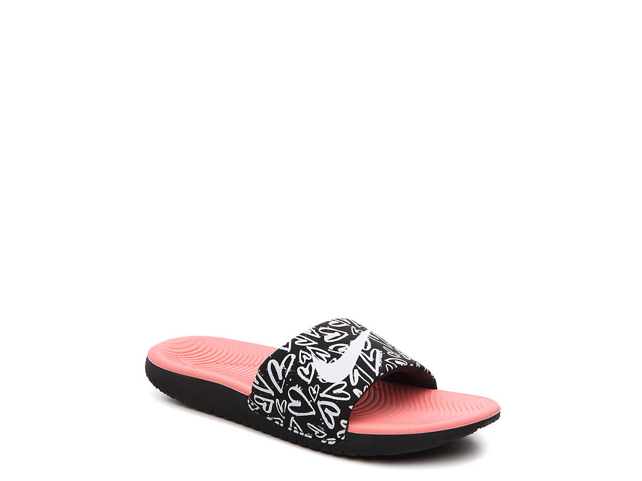 5a4e51bc2f2da6 Nike Kawa Print Toddler   Youth Slide Sandal Kids Shoes