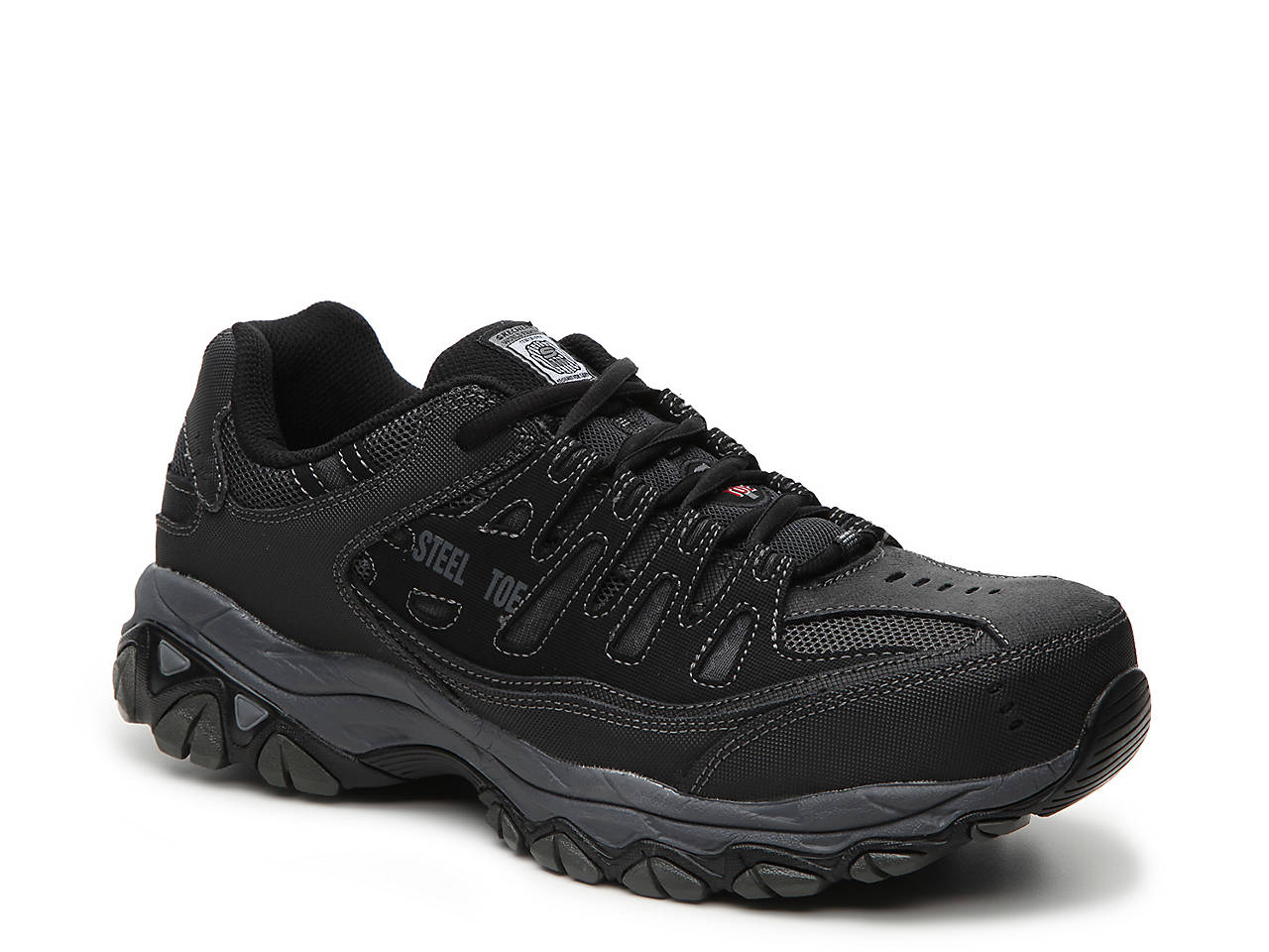 Skechers Work Relaxed Fit Cankton Steel Toe Sneaker Men s Shoes  de530a090ae7