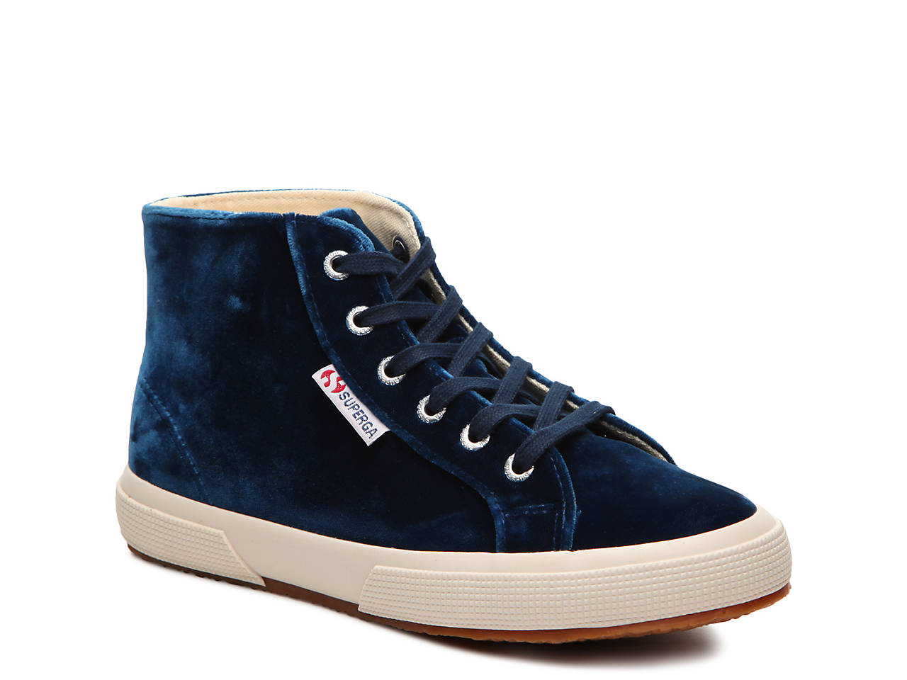 Superga Velvet High-Top Sneakers