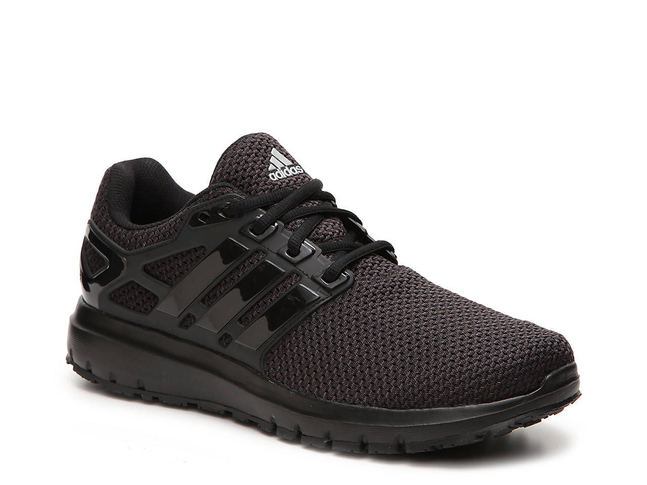 adidas black running shoes mens