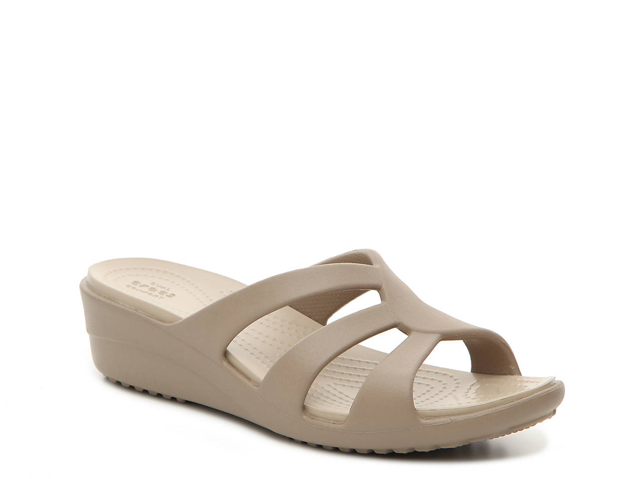 269295a49ce Crocs Sanrah Strappy Wedge Sandal Women s Shoes