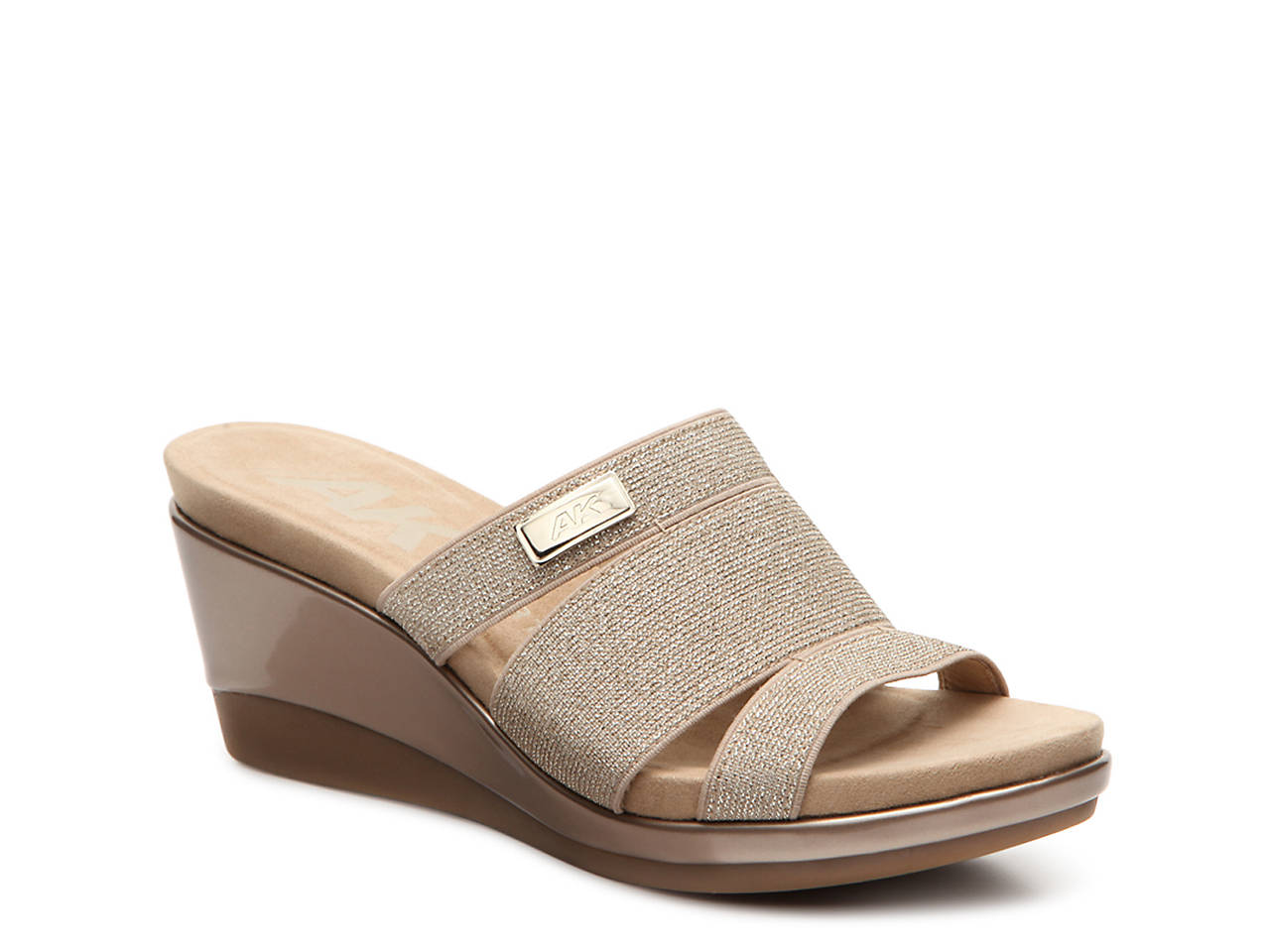 18b8eb5f282a6 Anne Klein Sport Penella Wedge Sandal Women's Shoes | DSW