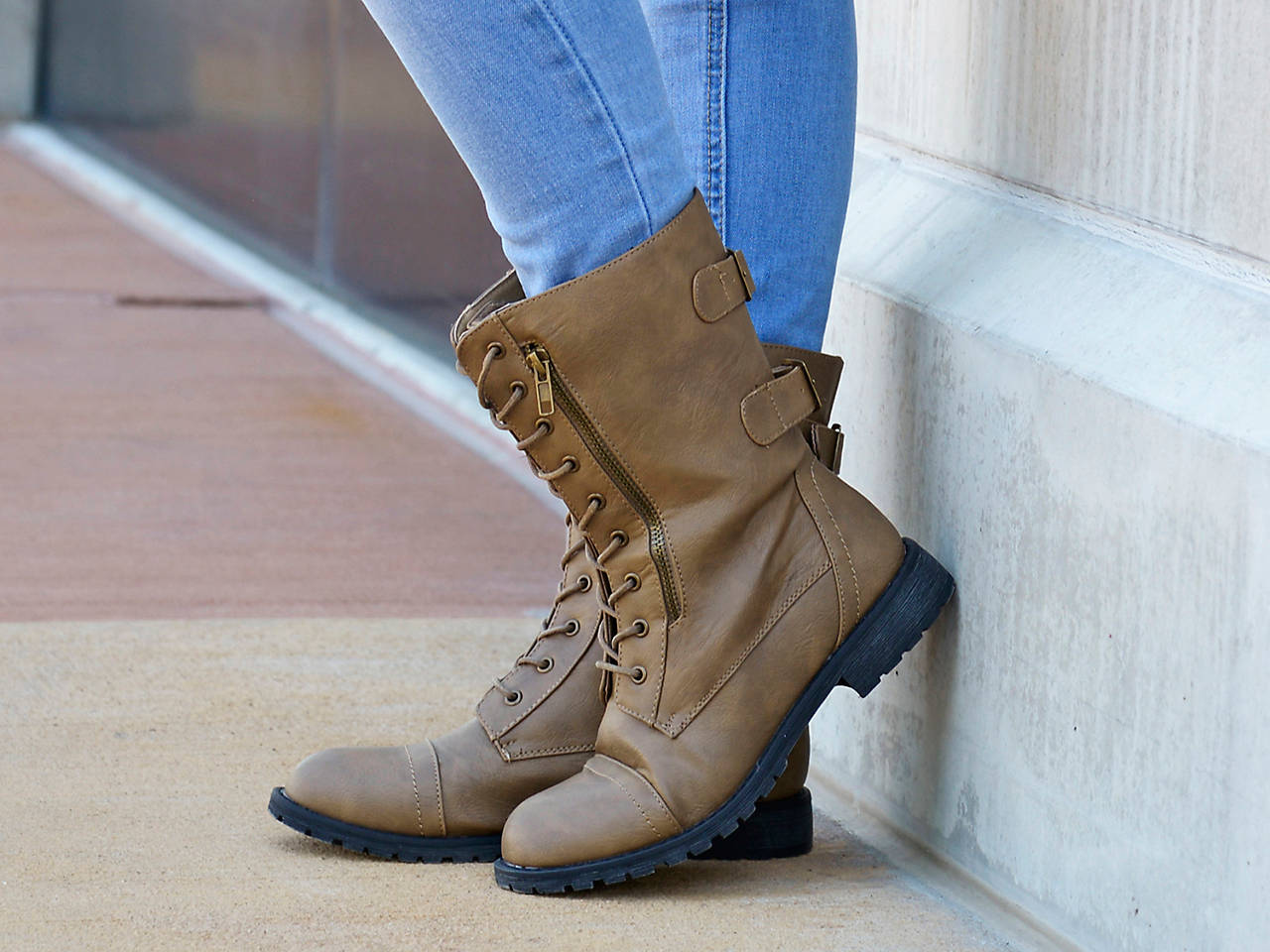 95e14b41a6c Journee Collection Kendel Combat Boot Women s Shoes