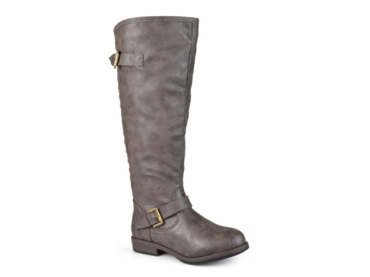 Journee Collection Womens Regular Sized and Wide-Calf Buckle Knee-high Riding Boot