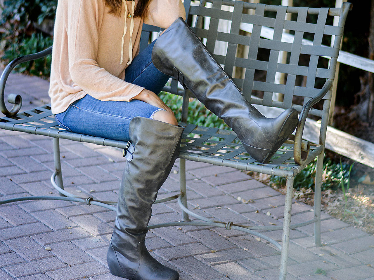 0443ec8698a Journee Collection Angel Over The Knee Boot Men s Shoes
