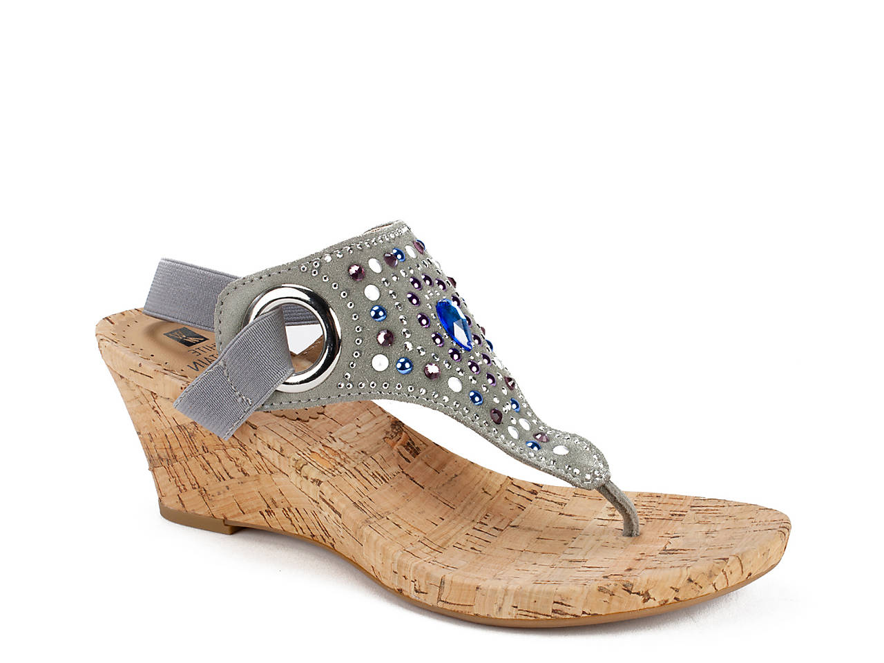 619ae4e5029a5b White Mountain Adeline Wedge Sandal Women s Shoes