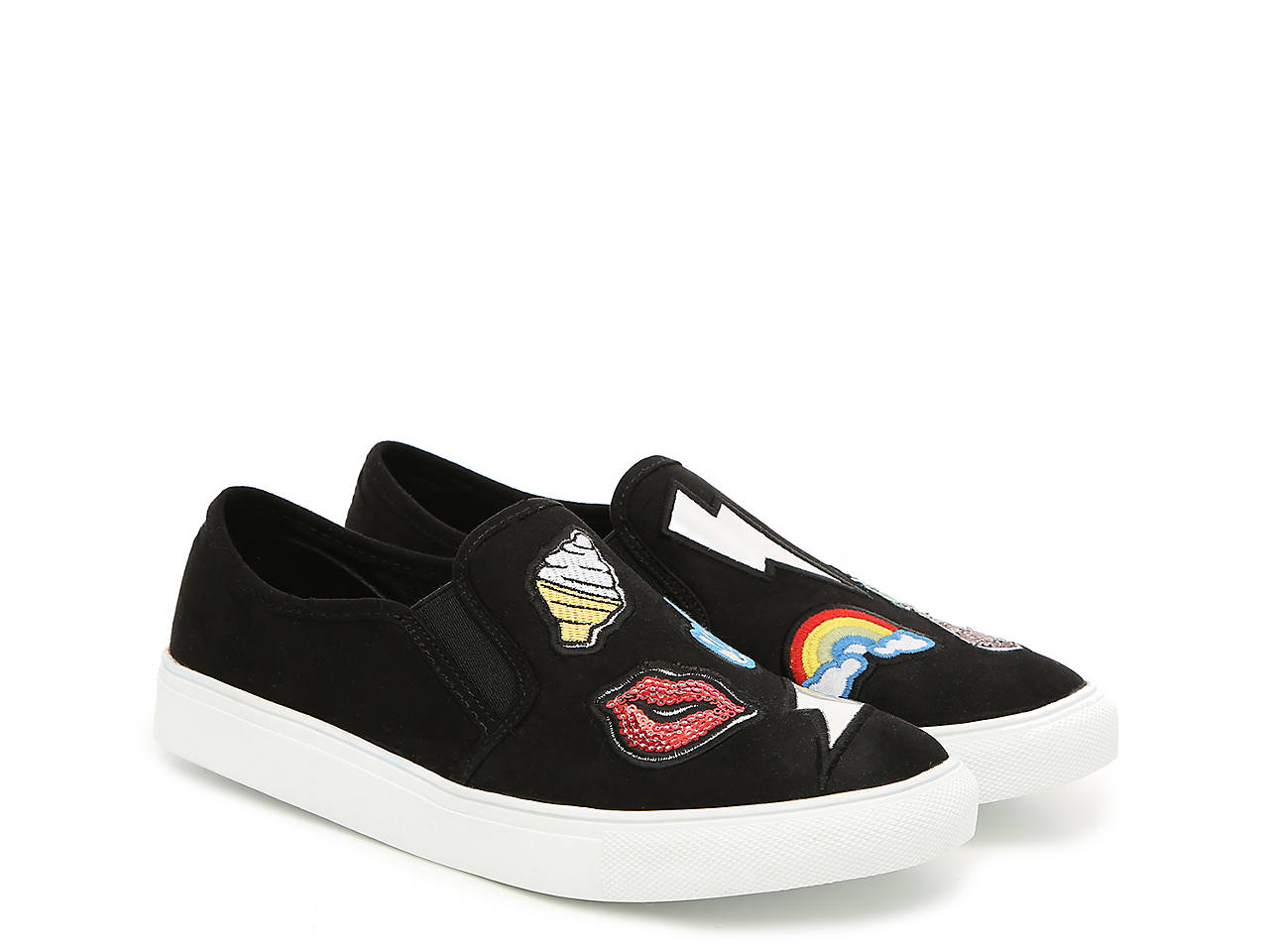 1e2d1953886 Madden Girl Comic Emoji Sneaker Women s Shoes