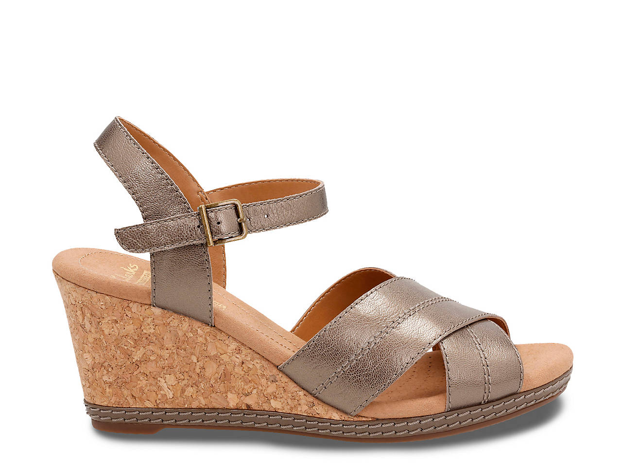 9112688364e Clarks Helio Latitude Wedge Sandal Women s Shoes