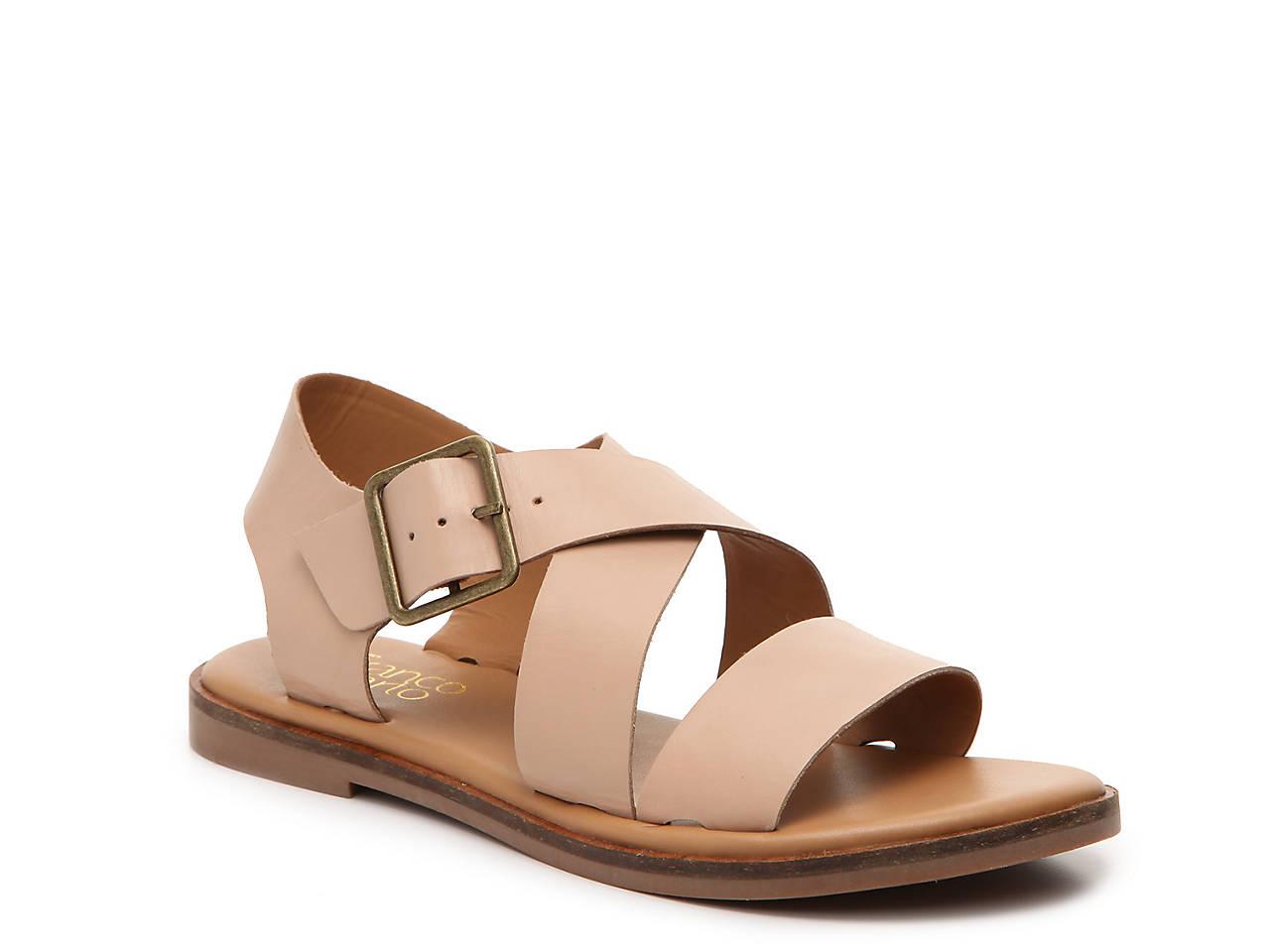Franco Sarto Kara Leather Buckle Sandal zBxZ6TH7