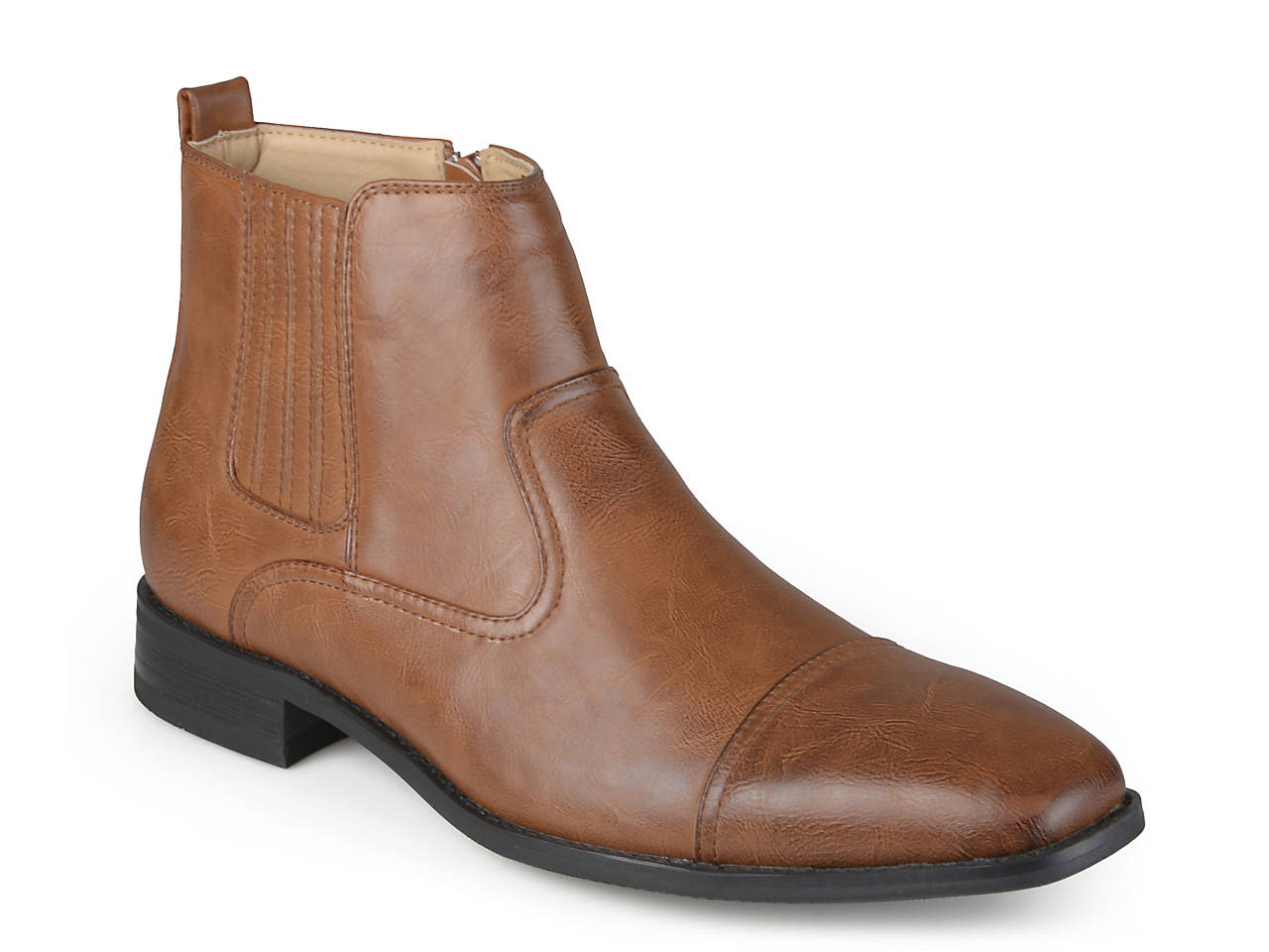 Flat, Chelsea Boots Femme, Marron (Cognac), 37 EUNobrand