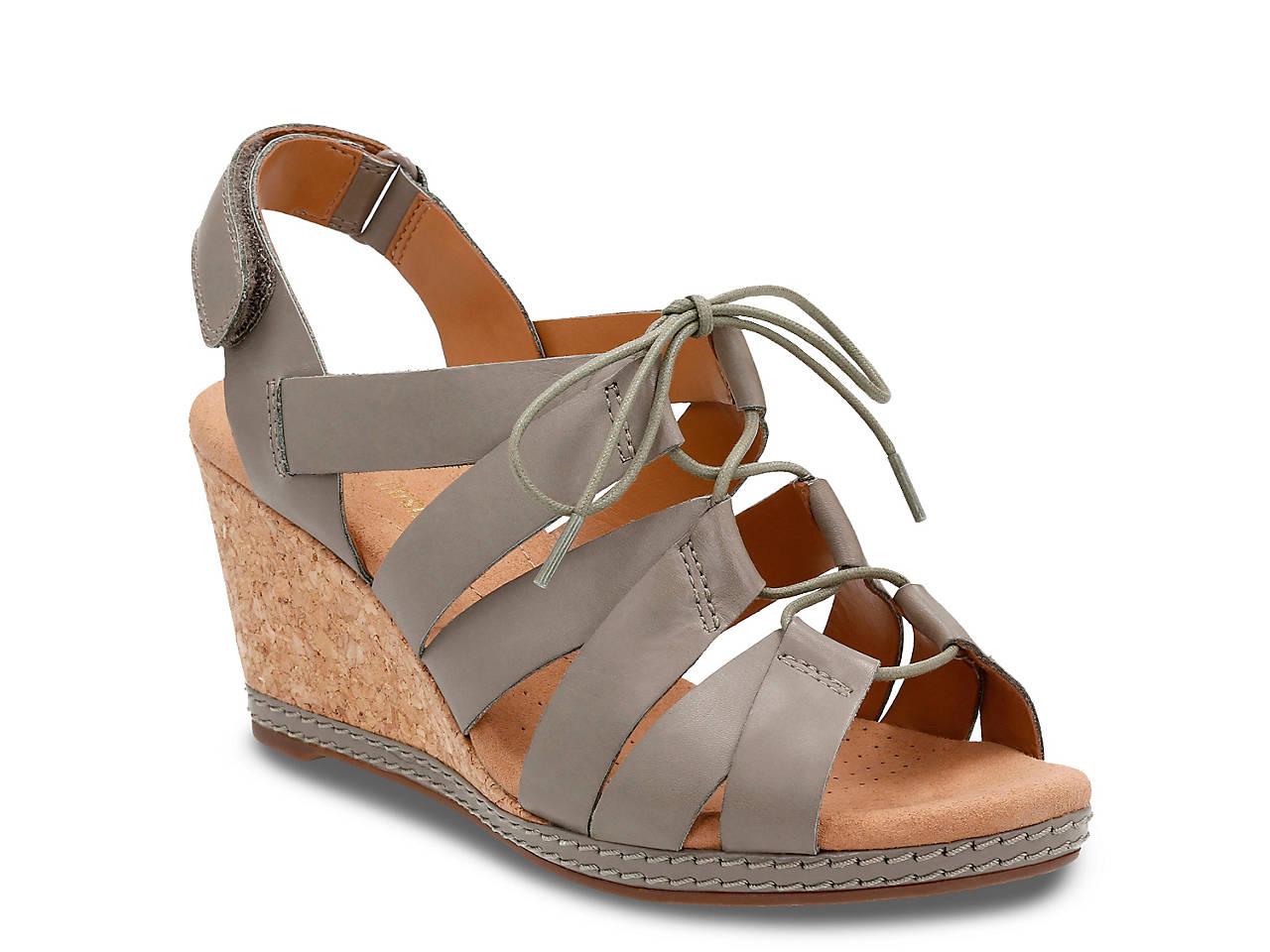 242183b771de0e Clarks Helio Mindin Wedge Sandal Women s Shoes