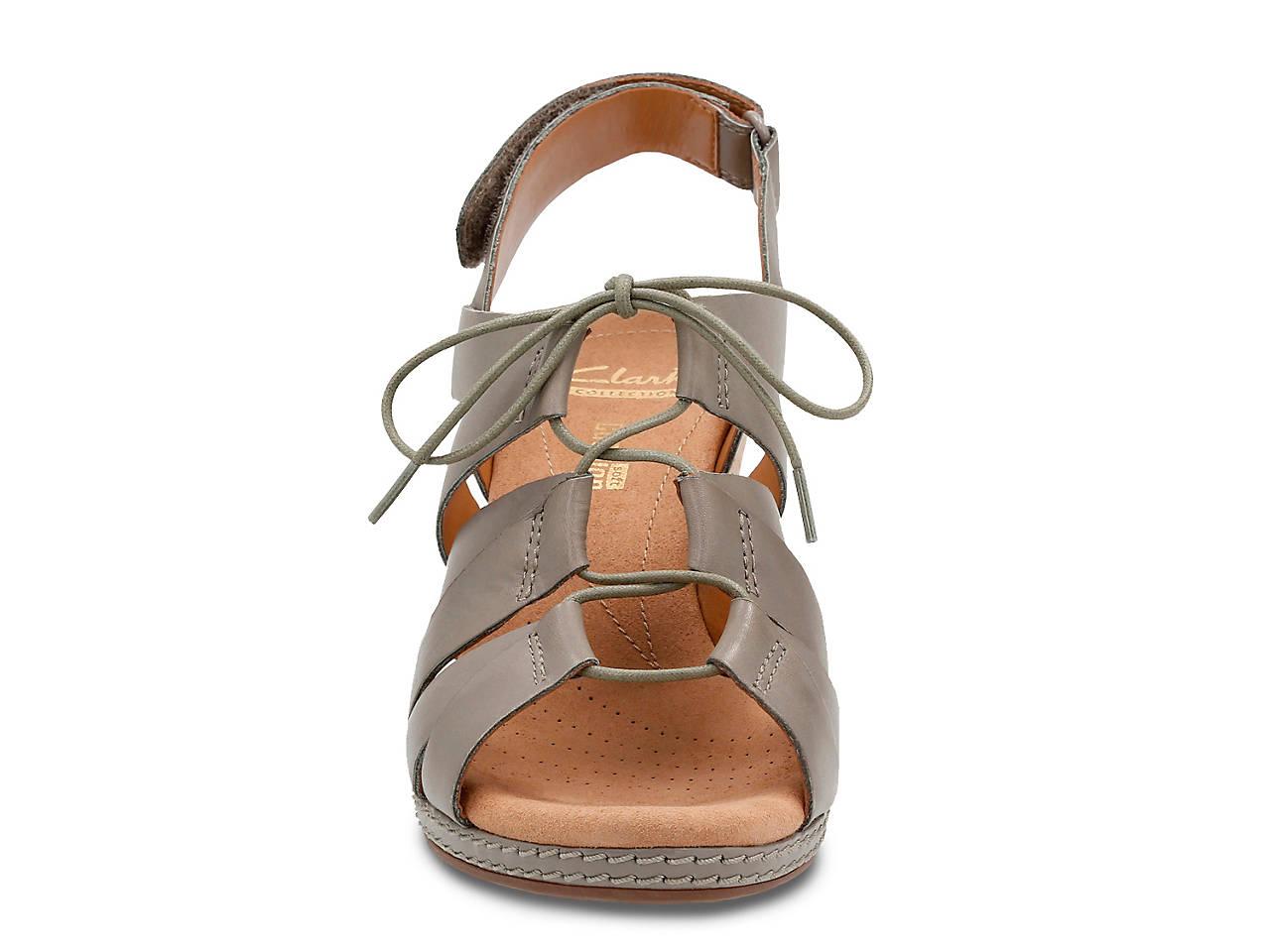 3cca300b9f80 Clarks Helio Mindin Wedge Sandal Women s Shoes