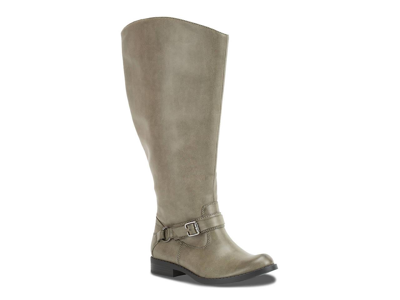 5e86d55c8d5 Easy Street Quinn Extra Wide Calf Riding Boot Women s Shoes