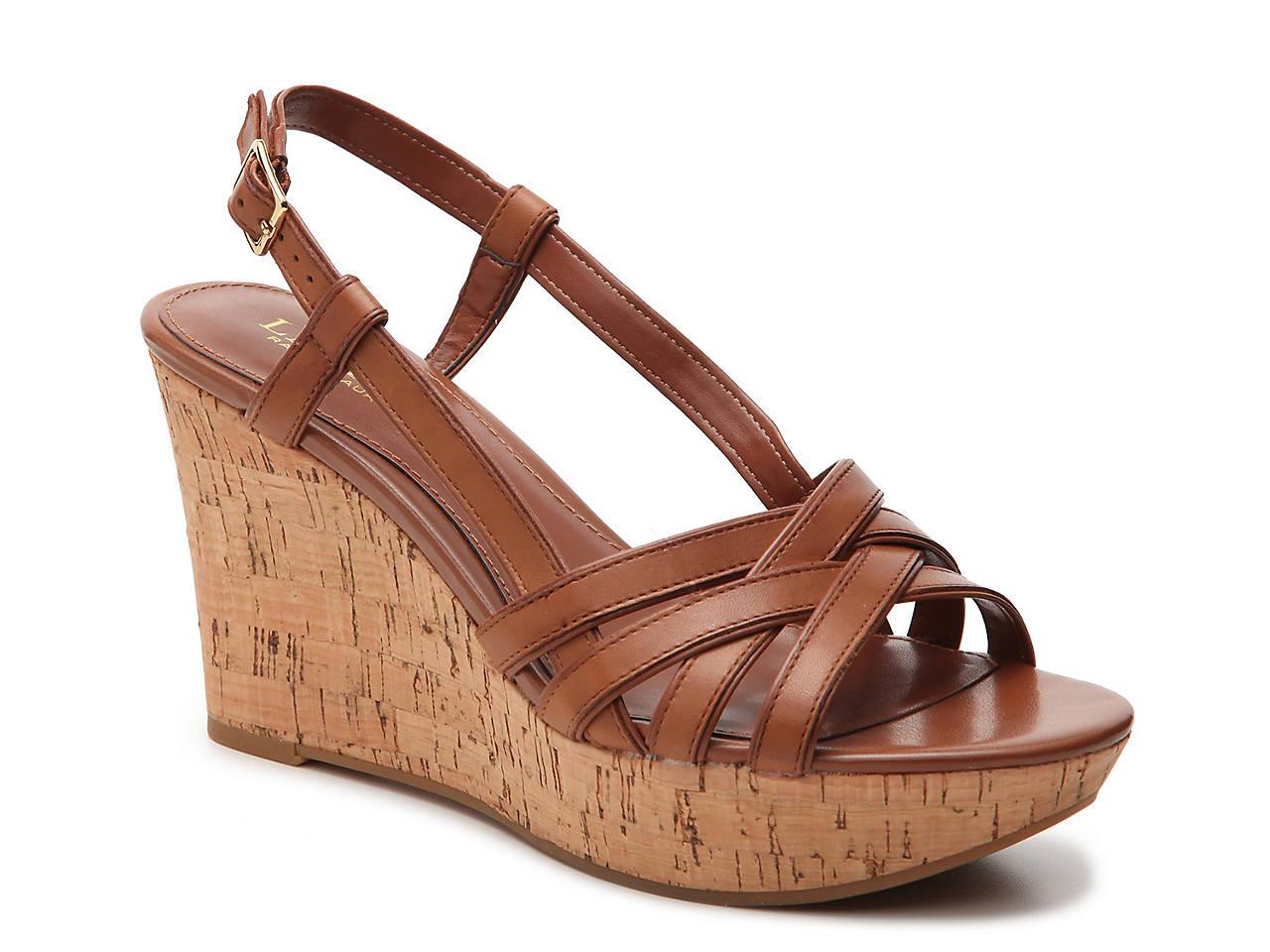 aefc83d4acc6 Lauren Ralph Lauren Quaylin Wedge Sandal Women s Shoes