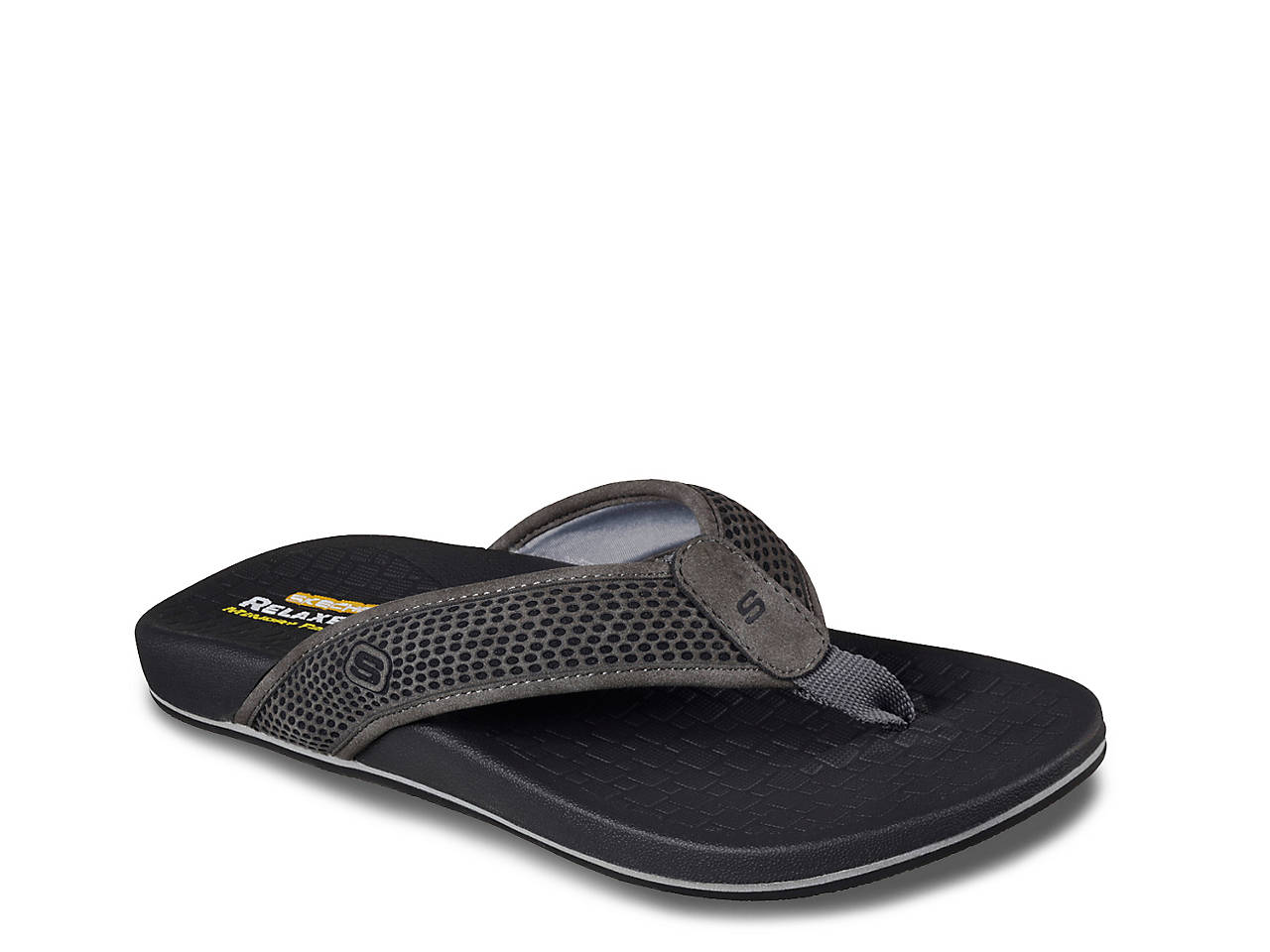 27834ba202987 Skechers Relaxed Fit Emiro Flip Flop Men s Shoes