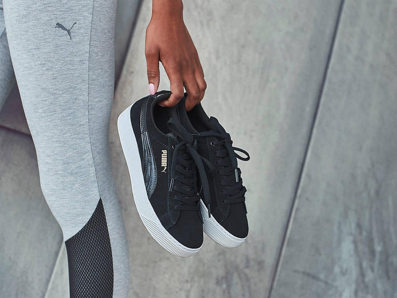 df0aa91bea9 Puma Vikky Platform Suede Sneaker - Women s Men s Shoes