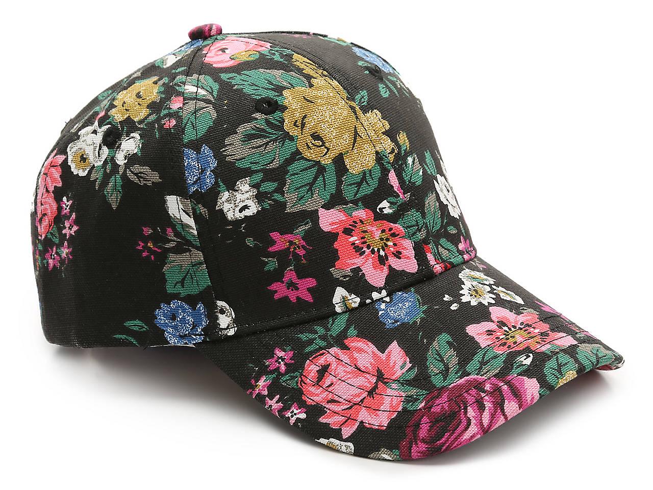 BCBGeneration Floral Baseball Cap Women s Handbags   Accessories  c3d82583a45