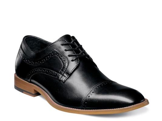 Stacy adams black slide in men dress shoes