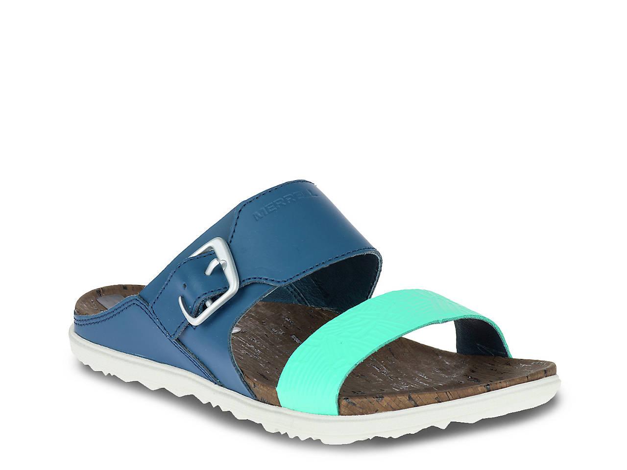 751917b4e87 Merrell Around Town Buckle Slide Sandal Women s Shoes