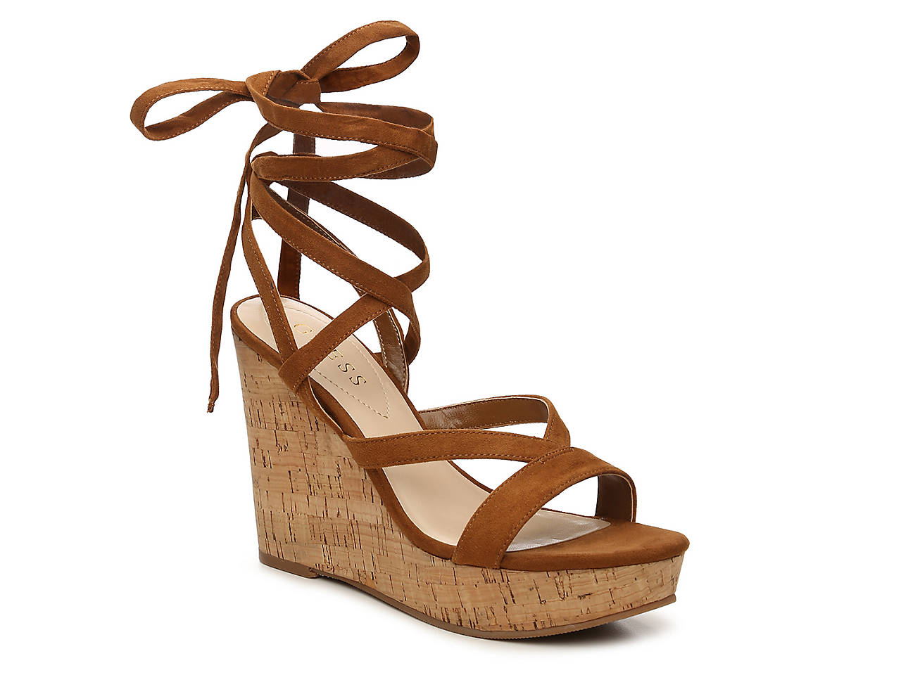 Guess Treacy Wedge Sandal Women S Shoes Dsw