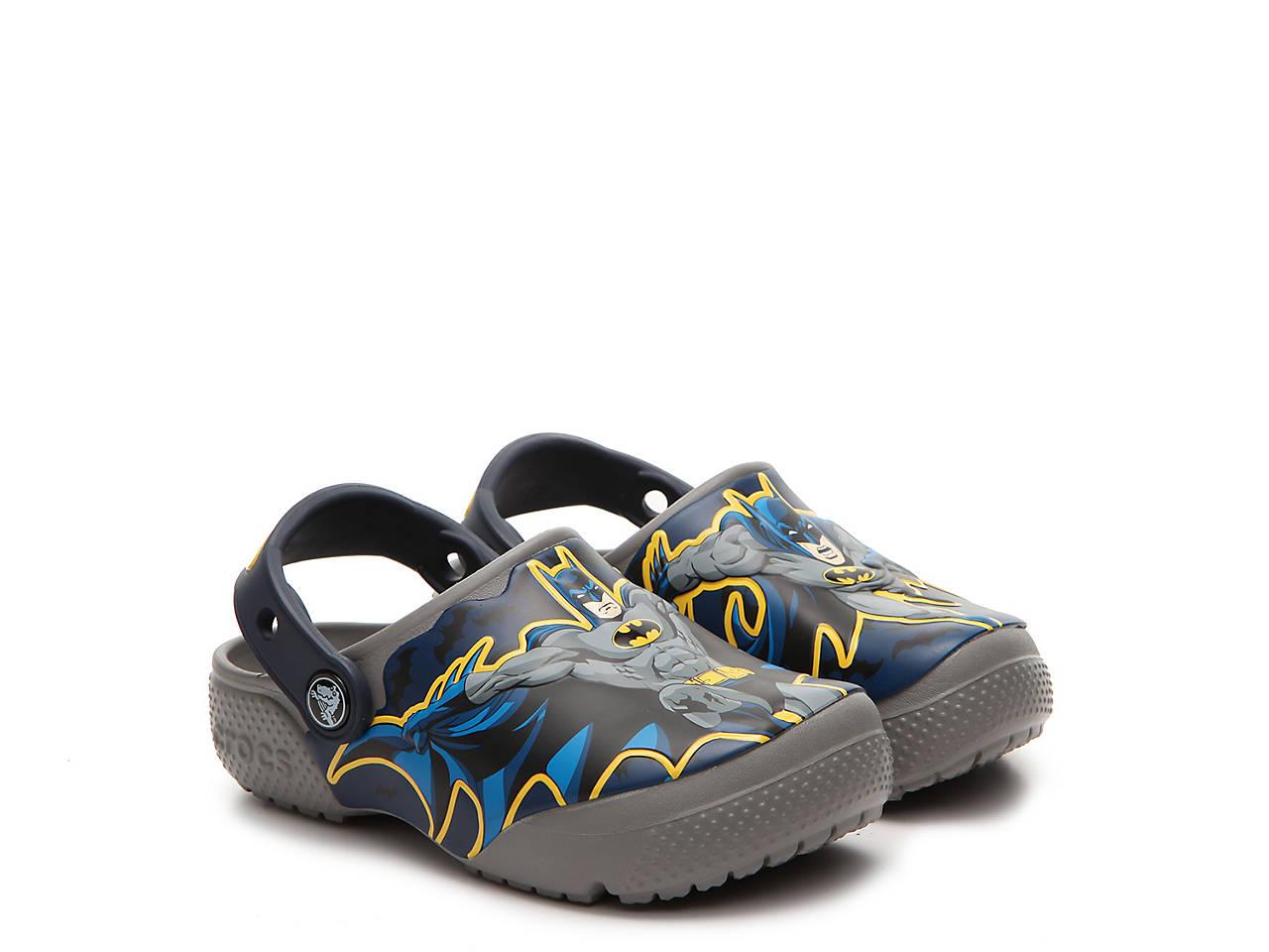fee8f85916d9b2 Crocs FunLab Batman Boys Toddler Clog Kids Shoes