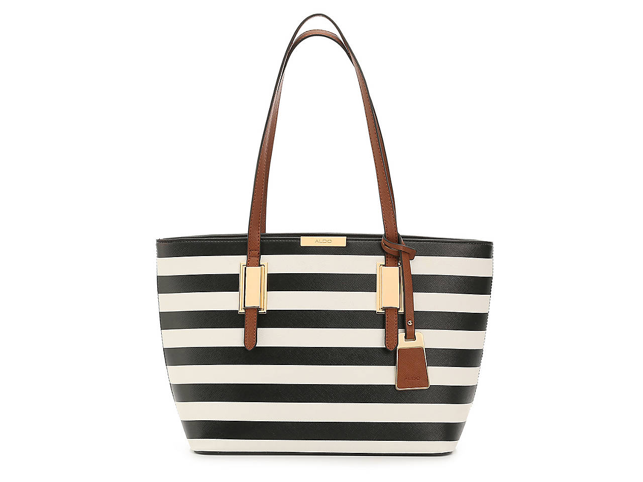 Afadollaa Tote black and white striped