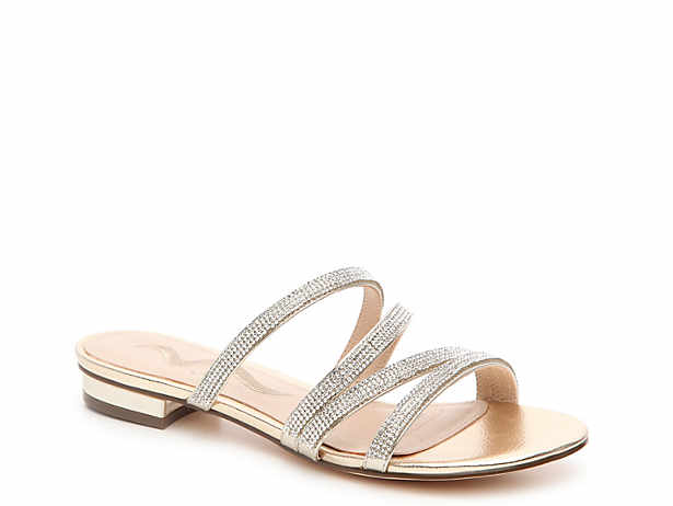 dd91c451597b Gold jeweled sandal