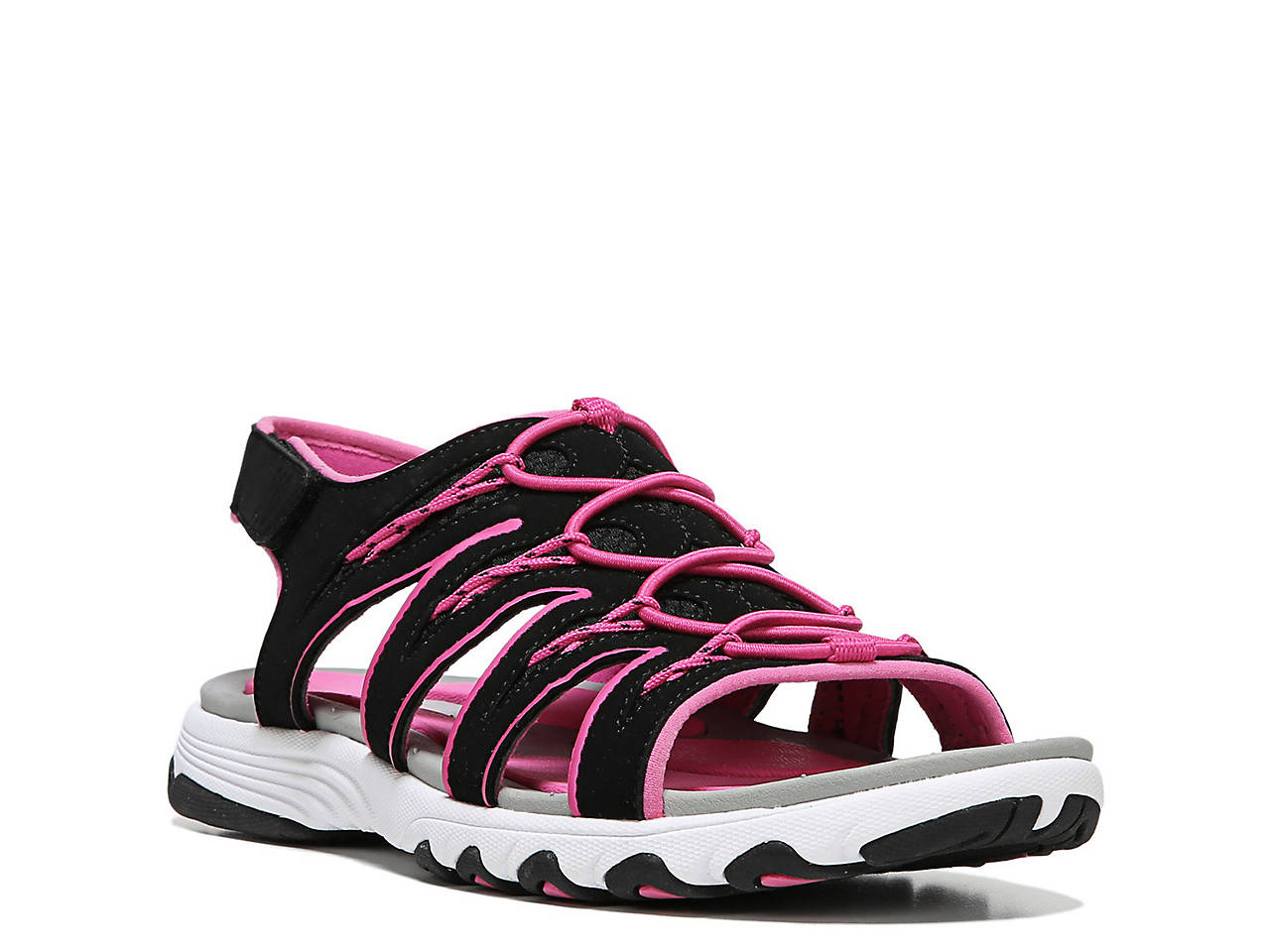 RYKA Women's Glance Athletic Sandal, Black/Pink, 8.5 M US