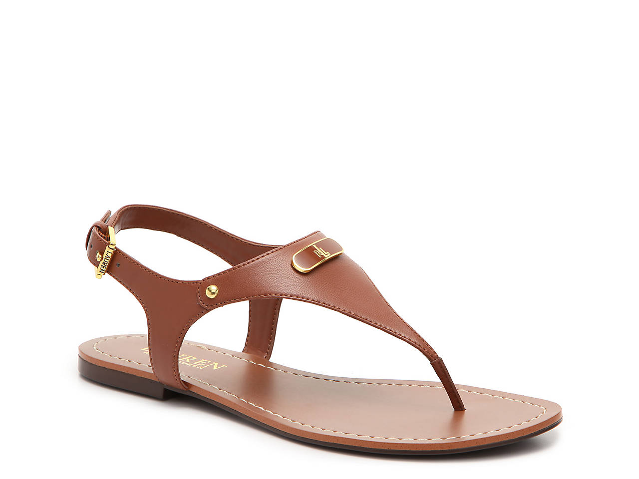 Buy Cheap Footlocker Finishline Sale Popular Lauren Ralph Lauren Patent Leather Thong Sandals Pw1xQJatwS