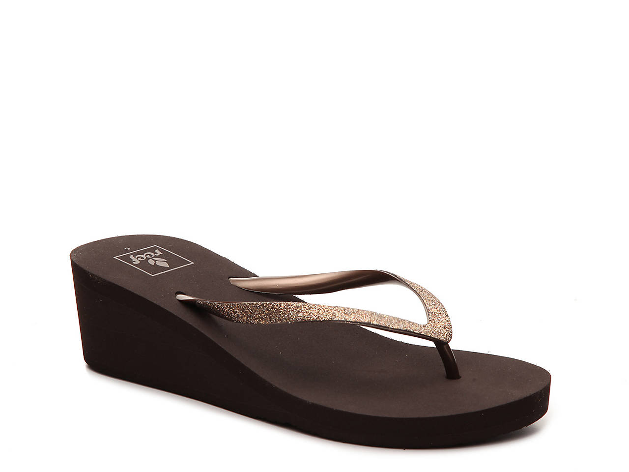 f6a7b1a0dc24cd Reef Krystal Star Wedge Flip Flop Women s Shoes