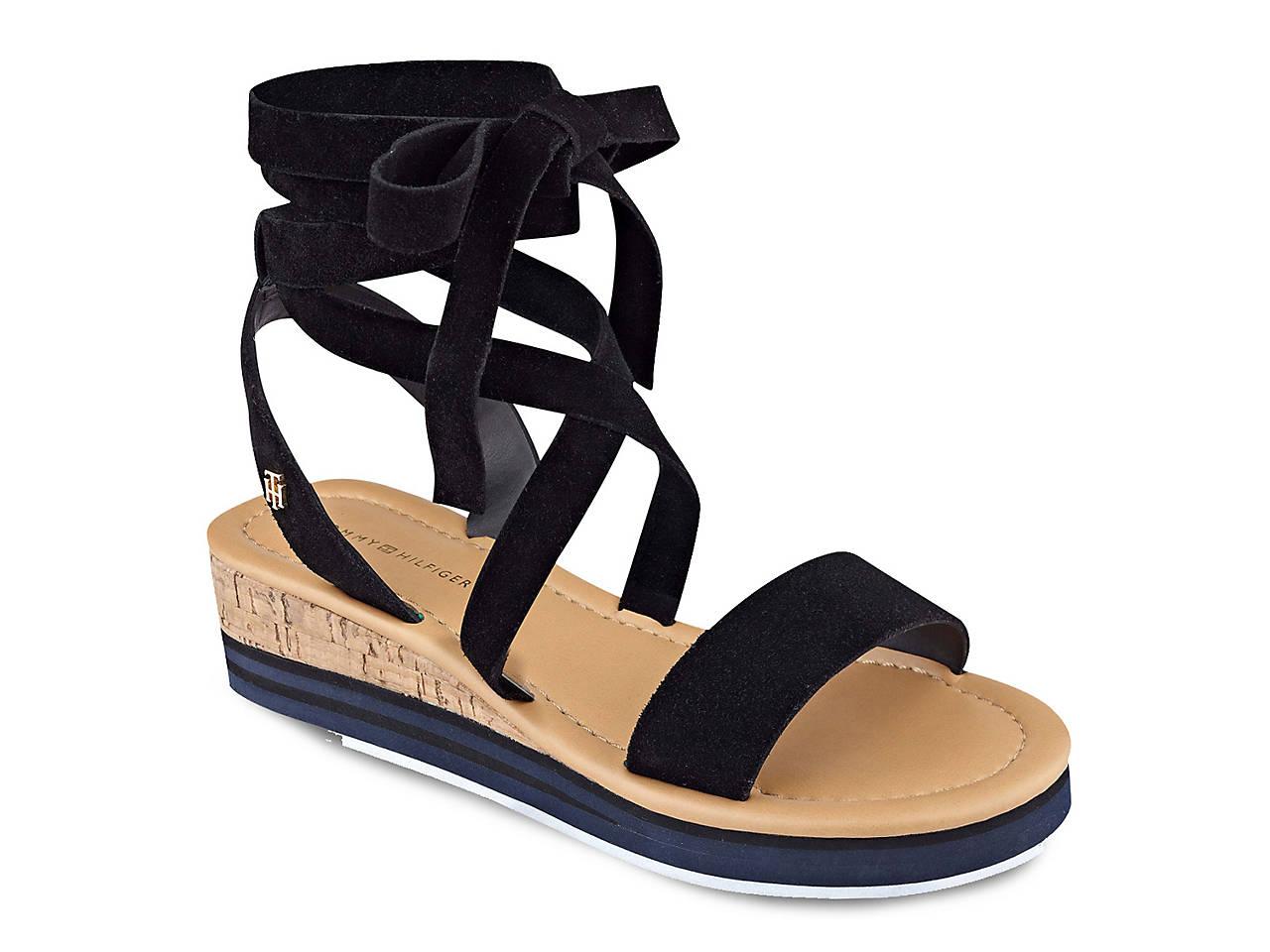 0e7e509dc4417 Tommy Hilfiger Parker Wedge Sandal Women s Shoes