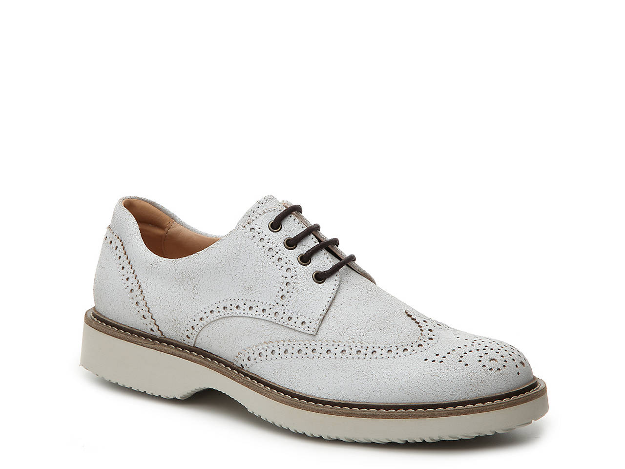 b6b92503b2c4a Hogan Distressed Leather Wingtip Oxford Men s Shoes