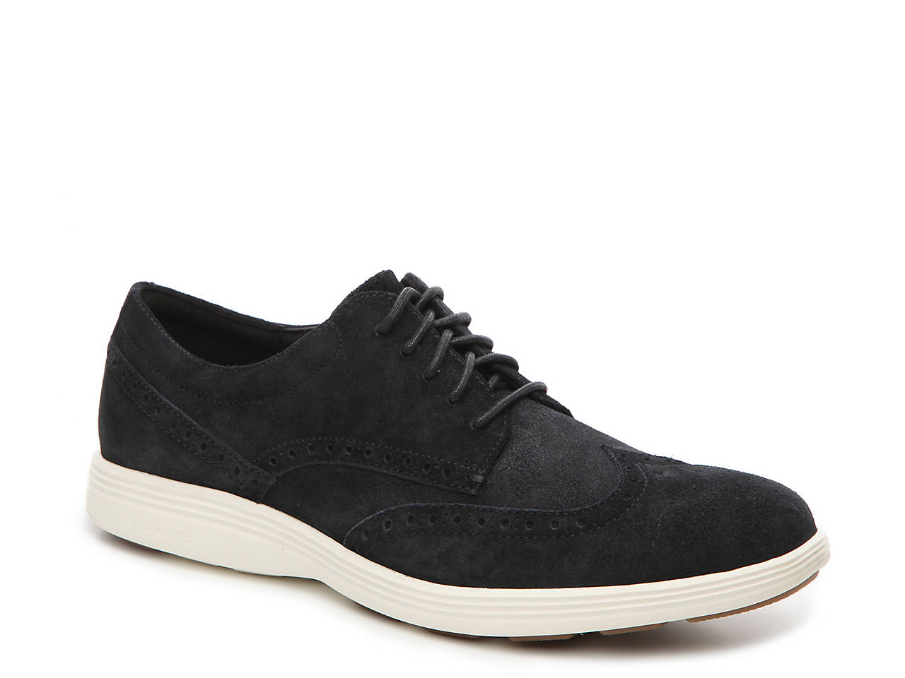 Grand Tour Suede Wing-Tip Oxfords