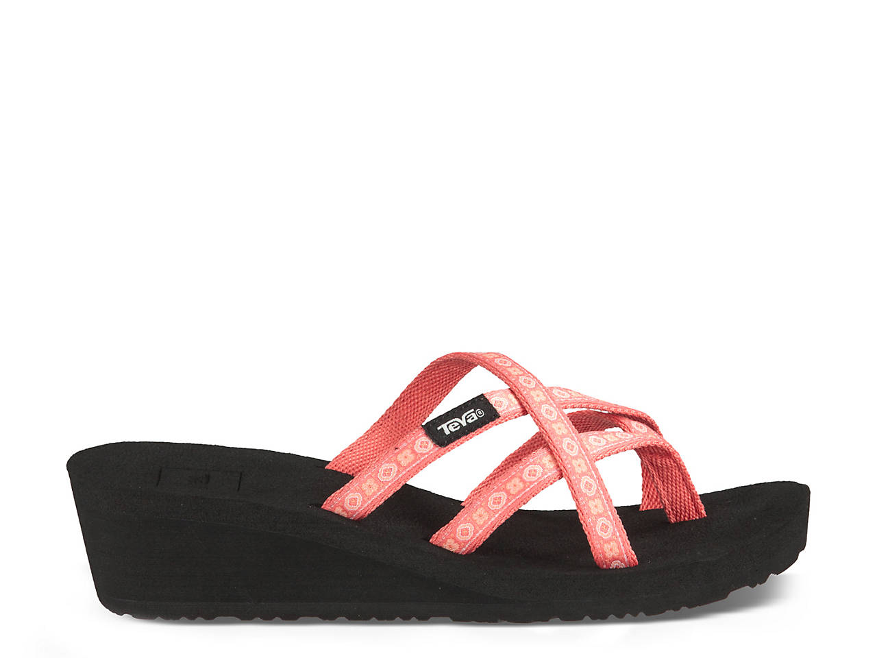 Teva Mush Mandalyn Ola Ii Wedge Flip Flop Womens Shoes  Dsw-3041
