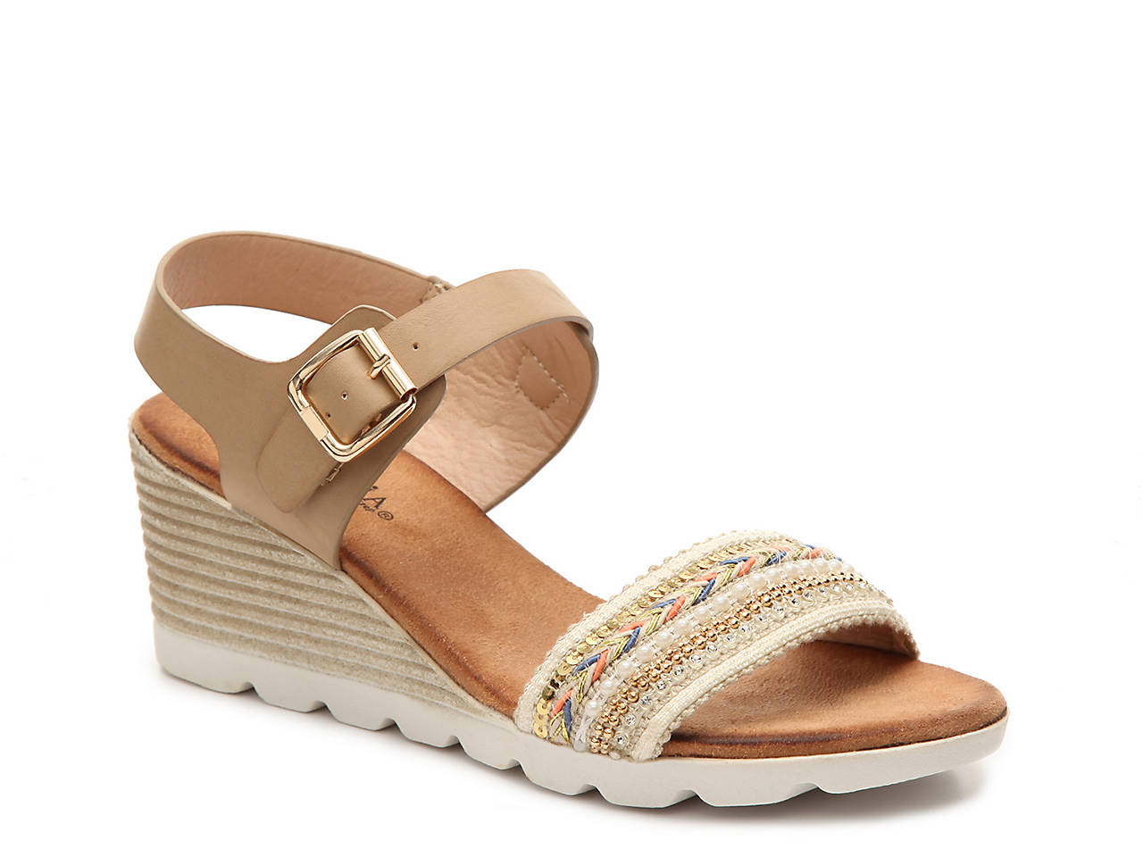 875ca487c244 Patrizia by Spring Step June Wedge Sandal Women s Shoes
