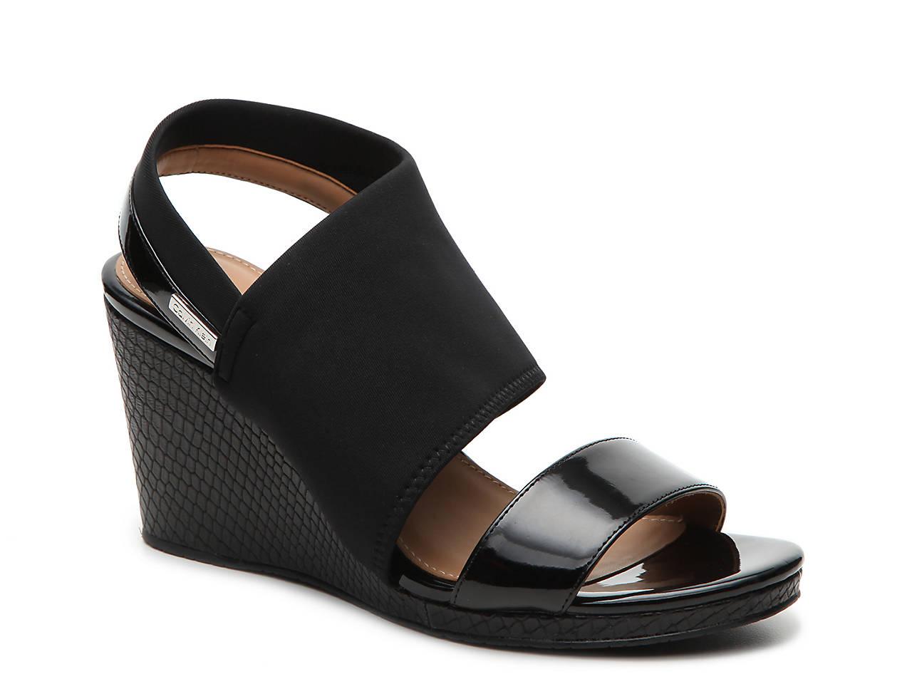 1b5bef47eae Calvin Klein Braylin Wedge Sandal Women s Shoes