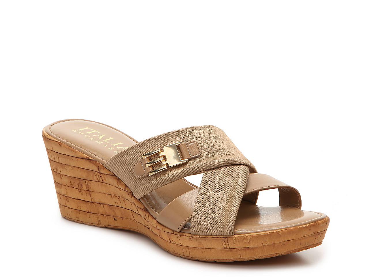 2344ec6542c9 Italian Shoemakers Sunbeam Wedge Sandal Women s Shoes
